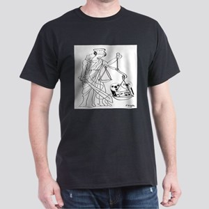 Lady Justice, Blind, but not Deaf Dark T-Shirt