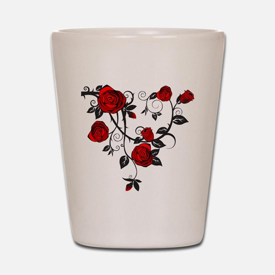 Red Rose Shot Glass