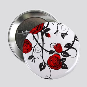 """Red Rose 2.25"""" Button"""