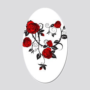 Red Rose Wall Decal