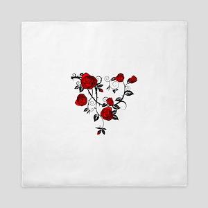 Red Rose Queen Duvet