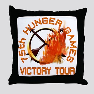75th Hunger Games Victory Tour Throw Pillow