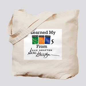 I Learned My ABCs - Sue Grafton Tote Bag