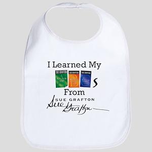 I Learned My ABCs - Sue Grafton Cotton Baby Bib