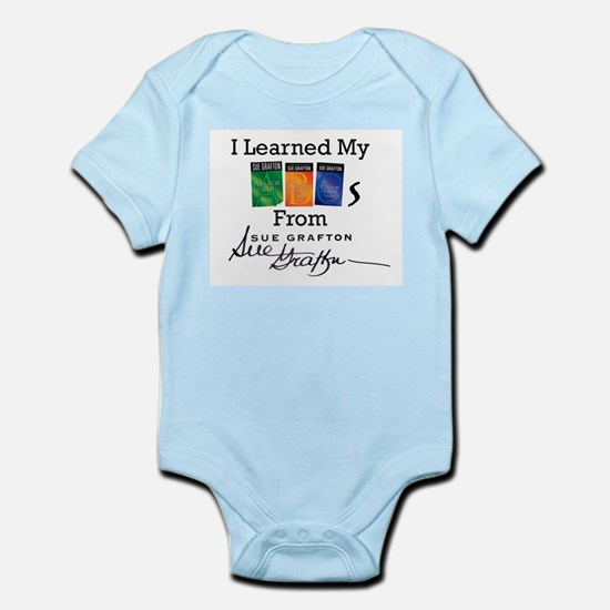 I Learned My ABCs - Sue Grafto Baby Light Bodysuit