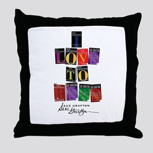 I Love To Read Sue Grafton Throw Pillow