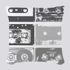 Mixtapes Woven Throw Pillow