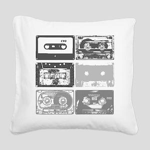 Mixtapes Square Canvas Pillow