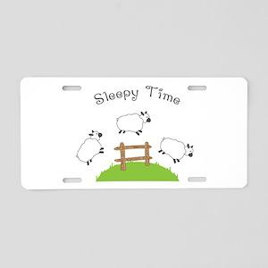 Sleepy Time Aluminum License Plate