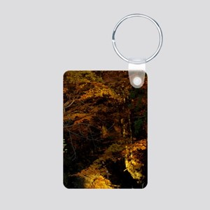Gold Flow Aluminum Photo Keychain