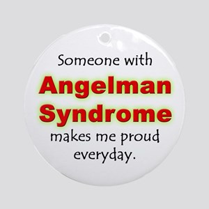 """Angelman Syndrome Pride"" Ornament (Round)"