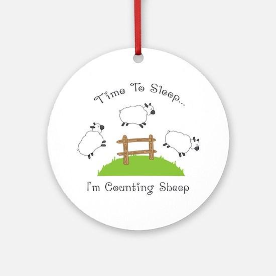 Time To Sleep Ornament (Round)