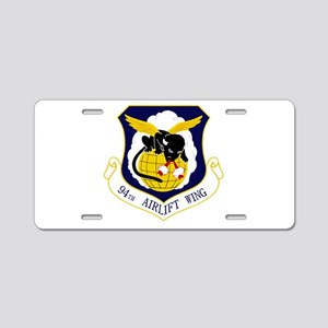 94th AW Aluminum License Plate