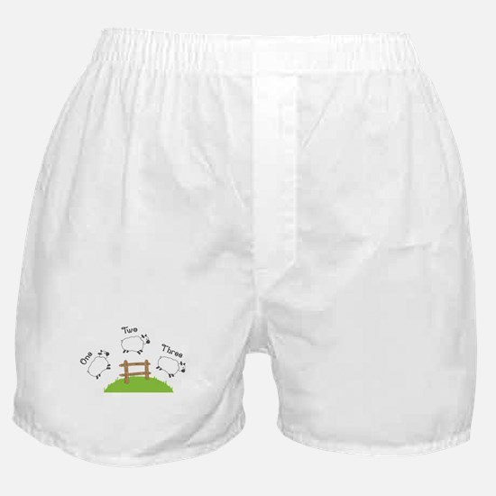 One Two Three Boxer Shorts