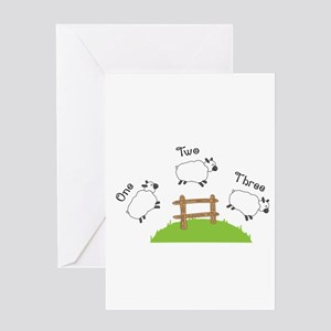 One Two Three Greeting Cards