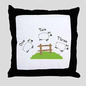 One Two Three Throw Pillow