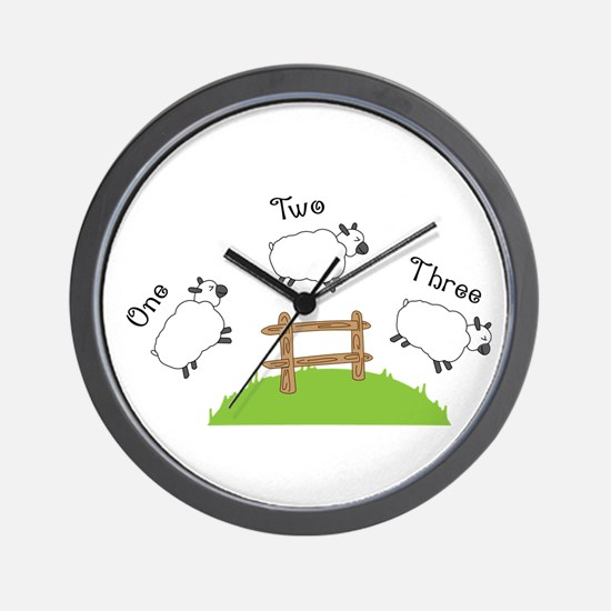One Two Three Wall Clock