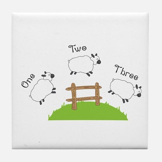One Two Three Tile Coaster