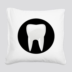 Tooth Square Canvas Pillow