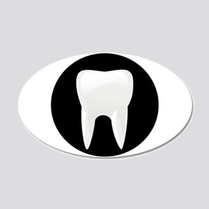Tooth 20x12 Oval Wall Decal