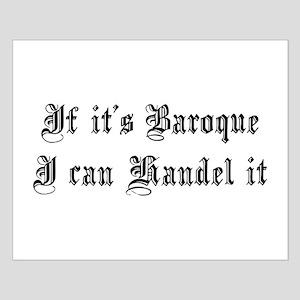 Baroque Pun Small Poster