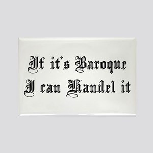 Baroque Pun Rectangle Magnet