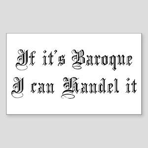 Baroque Pun Sticker (Rectangle)