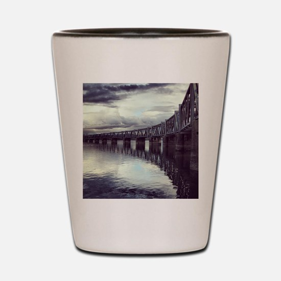 Bridge Reflection Shot Glass