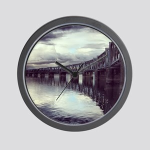 Bridge Reflection Wall Clock