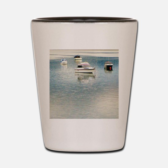 Boats on the Bay Shot Glass
