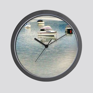 Boats on the Bay Wall Clock