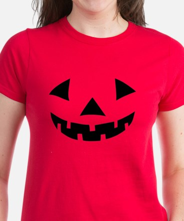 Jack-o-lantern Pumpkin Women's Dark T-Shirt