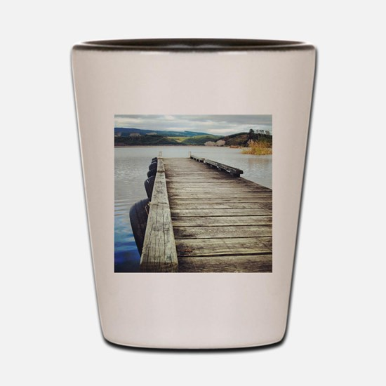 On the Jetty Shot Glass