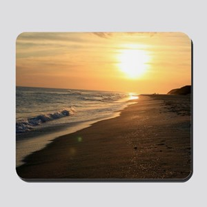 Romantic Colorful Sunset over Ocean Beac Mousepad