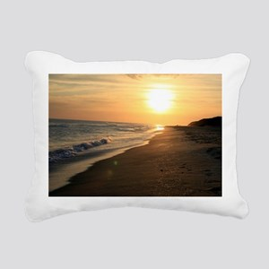 Romantic Colorful Sunset Rectangular Canvas Pillow
