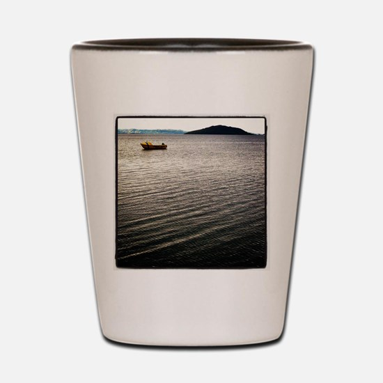 Windy Lake Shot Glass