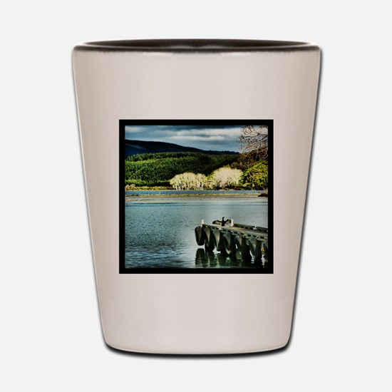 Lake Diver Shot Glass