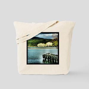 Lake Diver Tote Bag