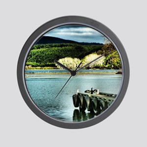 Lake Diver Wall Clock