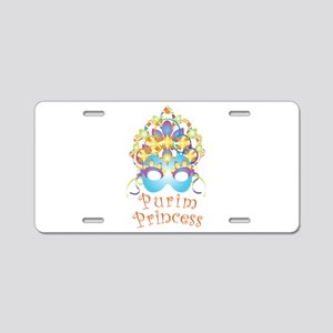 Purim Princess Aluminum License Plate