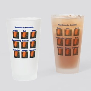 Goldfish Emotions Drinking Glass