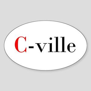 C-ville Oval Sticker