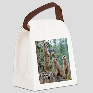 Meerkat010 Canvas Lunch Bag