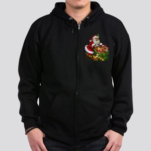 Santa Claus! Zip Hoodie (dark)