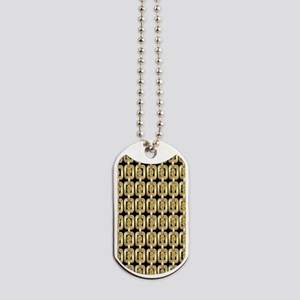 Gold Chain and Gem Dog Tags