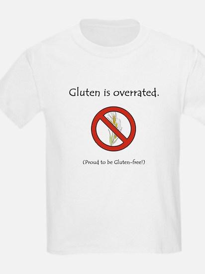 """Gluten is overrated."" Kids T-Shirt"