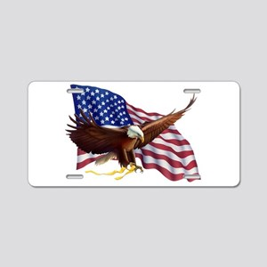 American Patriotism Aluminum License Plate
