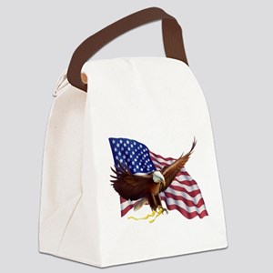 American Patriotism Canvas Lunch Bag