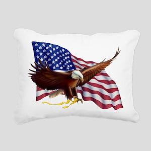 American Patriotism Rectangular Canvas Pillow