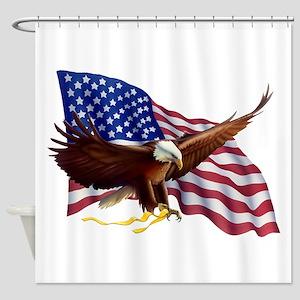 American Patriotism Shower Curtain